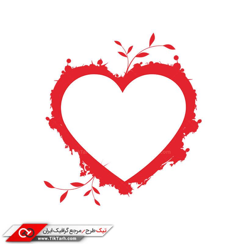 طرح گرافیکی کلیپ آرت با طرح قلب