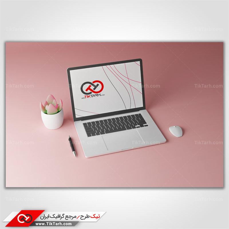 طرح گرافیکی موکاپ لپ تاپ
