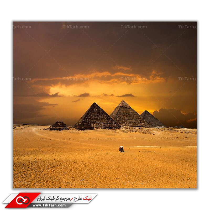 تصویر باکیفیت اهرام ثلاثه مصر