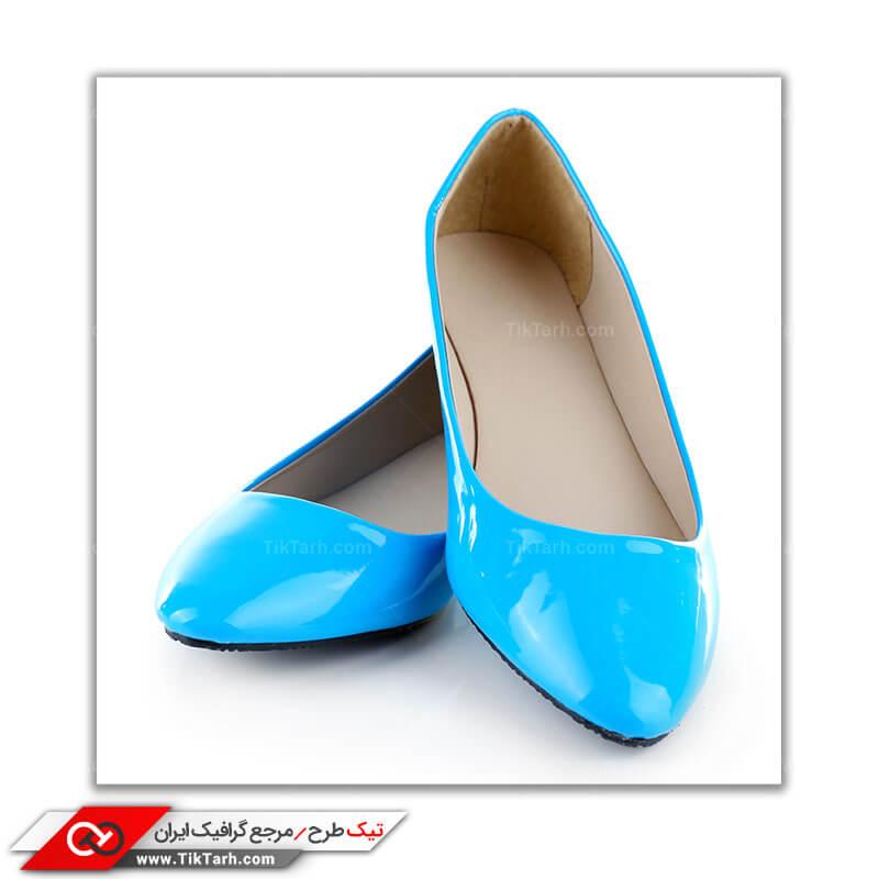 تصویر باکیفیت کفش پاشنه بلند آبی