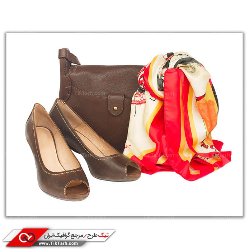 دانلود عکس لارج فرمت کفش و کیف چرم زنانه