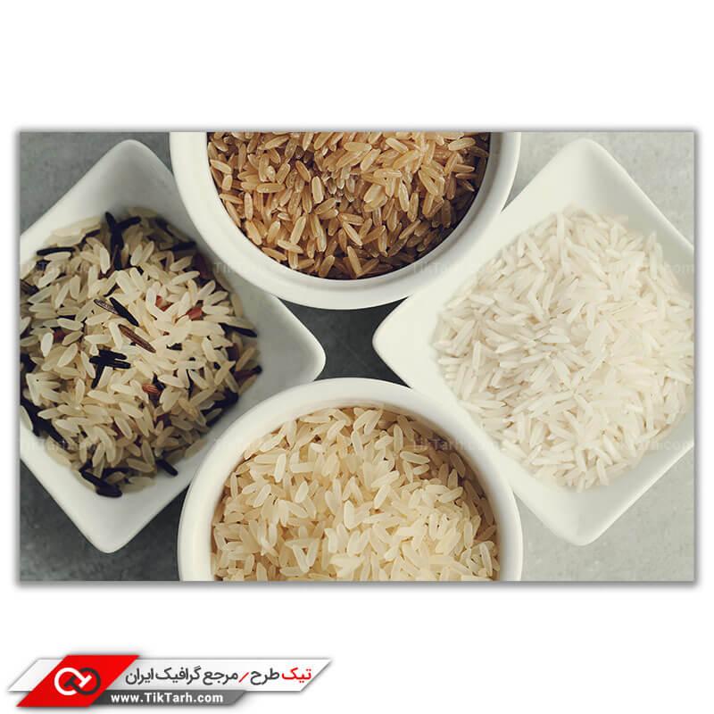 تصویر با کیفیت انواع برنج