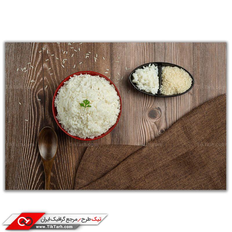 تصویر با کیفیت برنج پخته