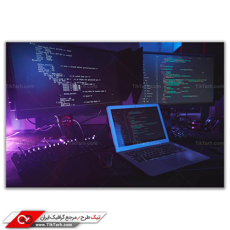 تصویر باکیفیت سیستم برنامه نویسی