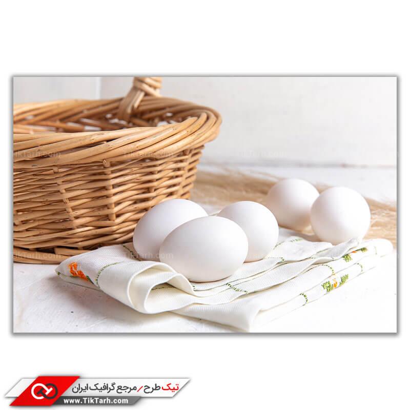 دانلود تصویر با کیفیت سبد و تخم مرغ