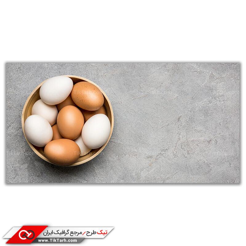 دانلود تصویر گرافیکی تخم مرغ محلی و سفید
