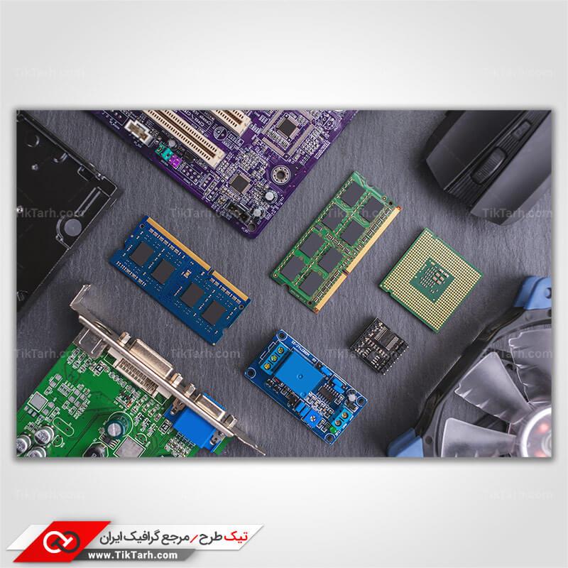 تصویر لارج فرمت اجزای داخلی سازنده کامپیوتر