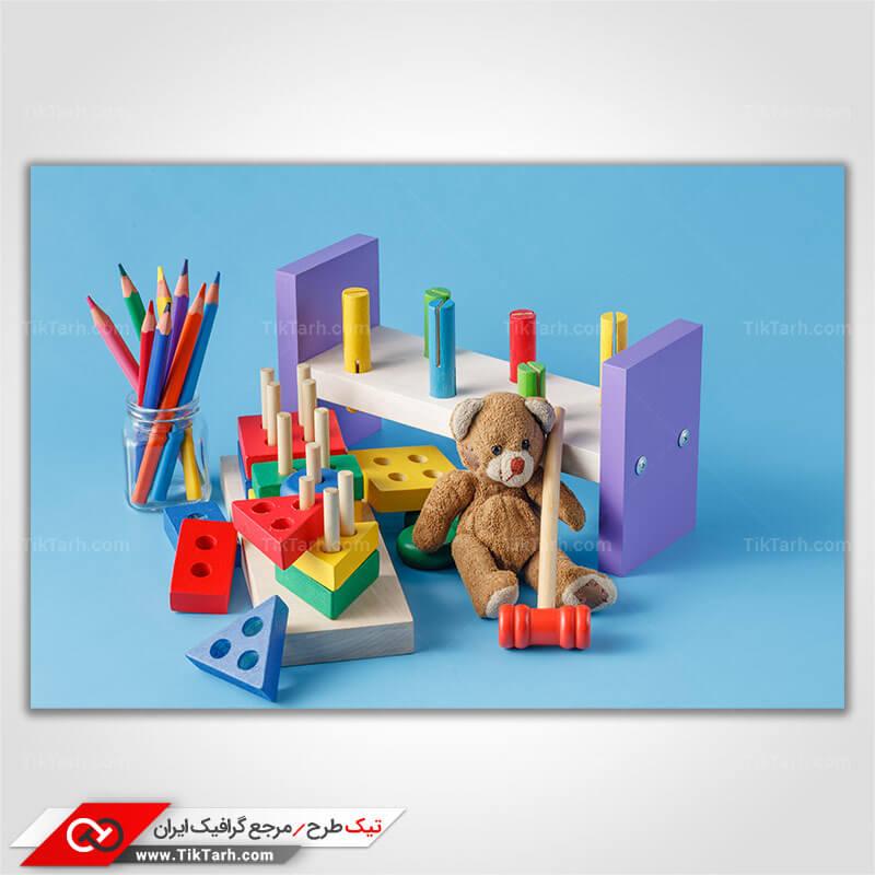تصویر با کیفیت بازی فکری کودکان