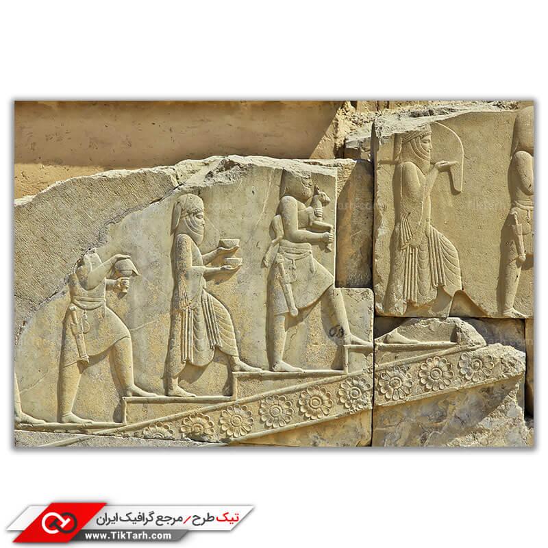 تصویر باکیفیت تخت جمشید خرابه امپراطوری باستان ایران