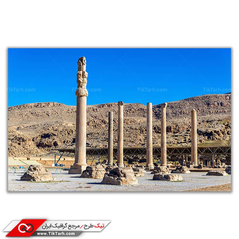 تصویر باکیفیت خرابه ها تخت جمشید امپراطوری ایران باستان