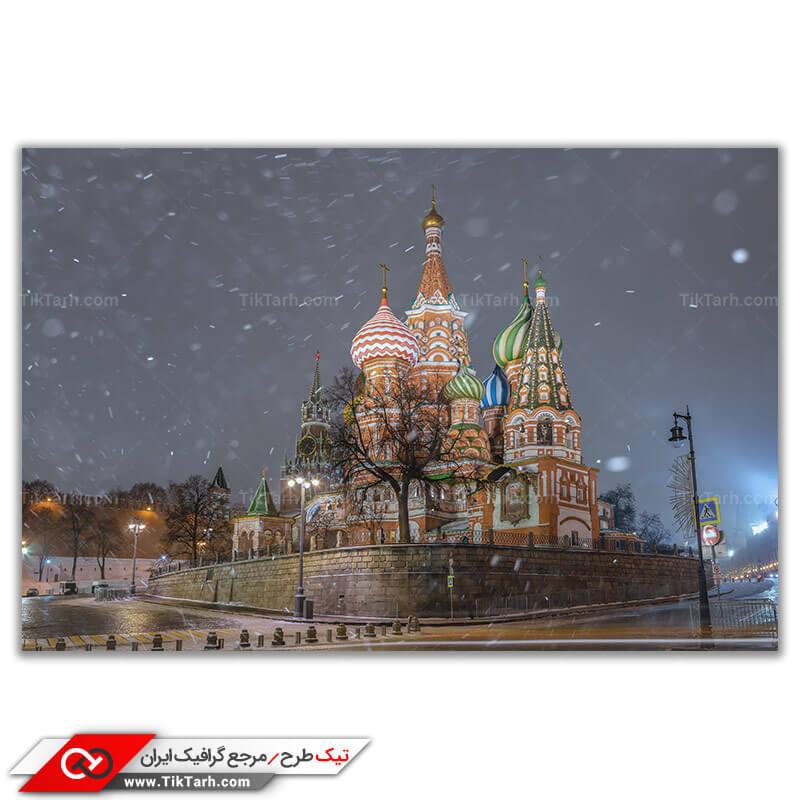 تصویر باکیفیت کلیسای جامع در مسکو