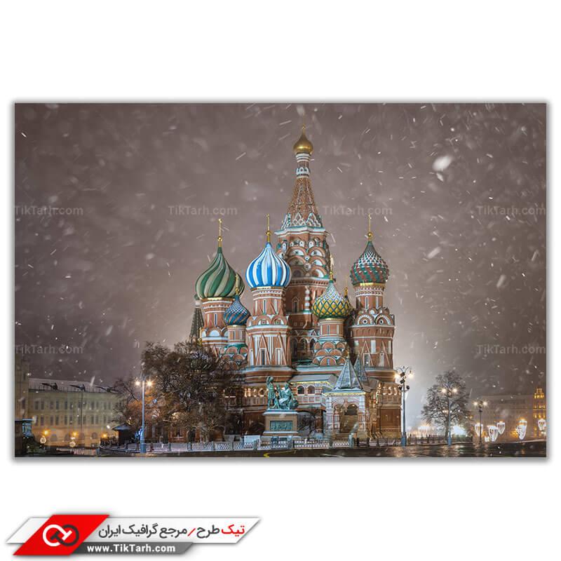 دانلود عکس باکیفیت کلیسای جامع در مسکو