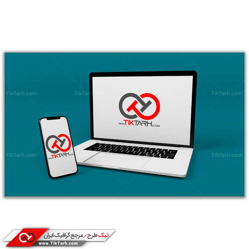 طرح گرافیکی موکاپ لپ تاپ و موبایل