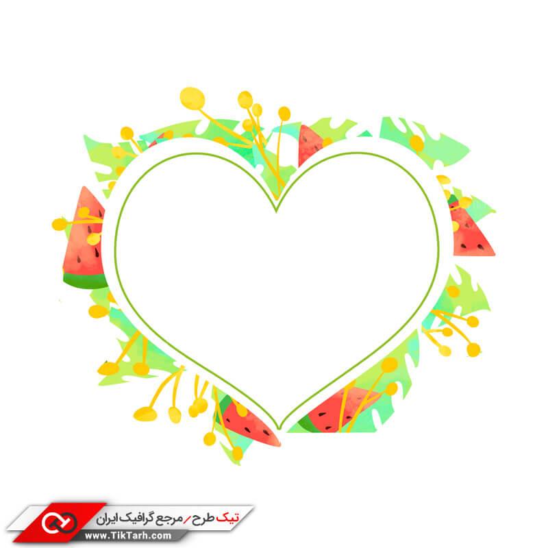 دانلود طرح لایه باز با طرح کادر قلب
