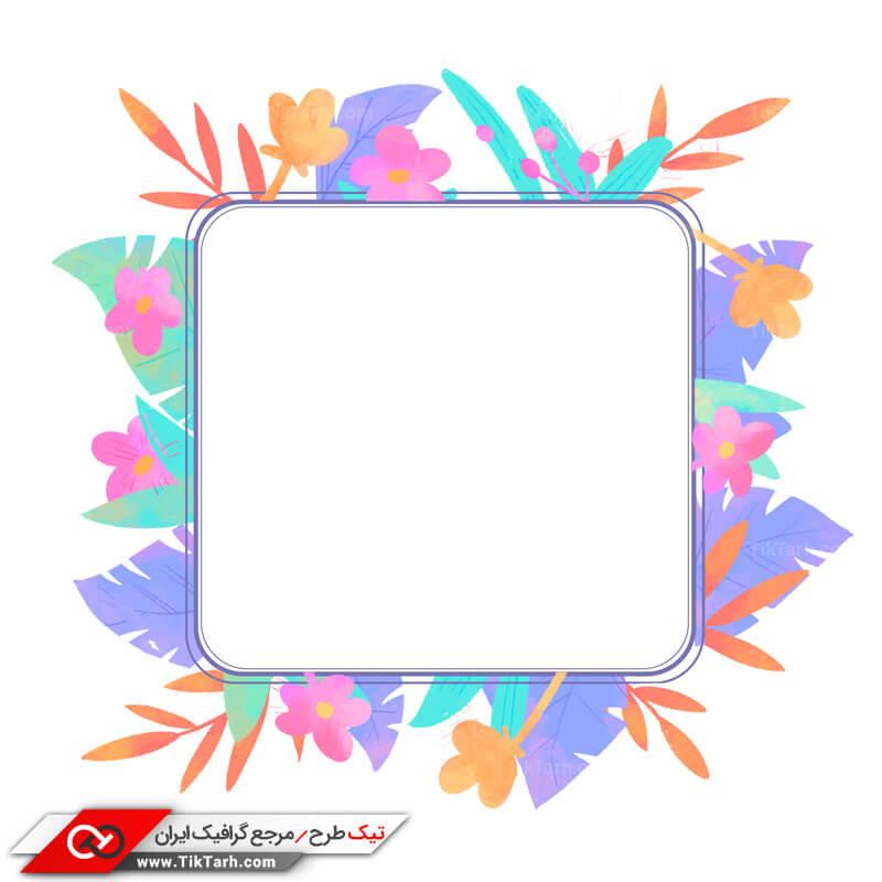 طرح لایه باز با طرح کادر مربع و بهار