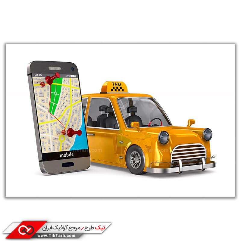تصویر گرافیکی تاکسی اینترنتی