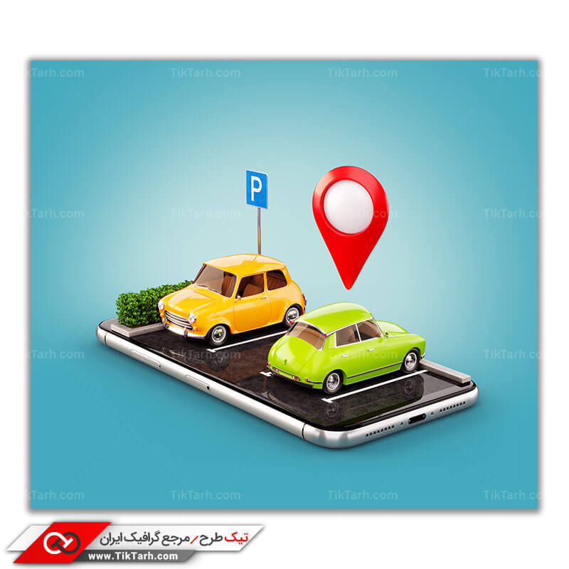 تصویر گرافیکی با طرح تاکسی اینترنتی