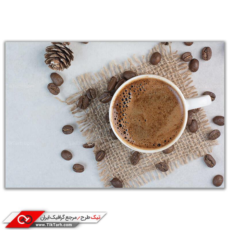 دانلود تصویر گرافیکی قهوه از نمای بالا