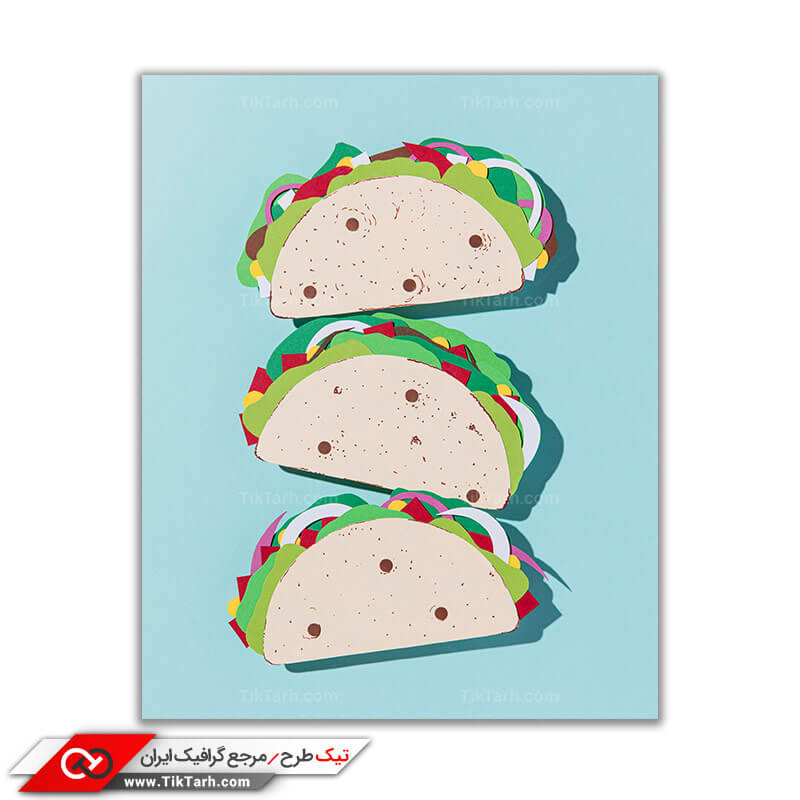 تصویر با کیفیت و گرافیکی سه ساندویچ