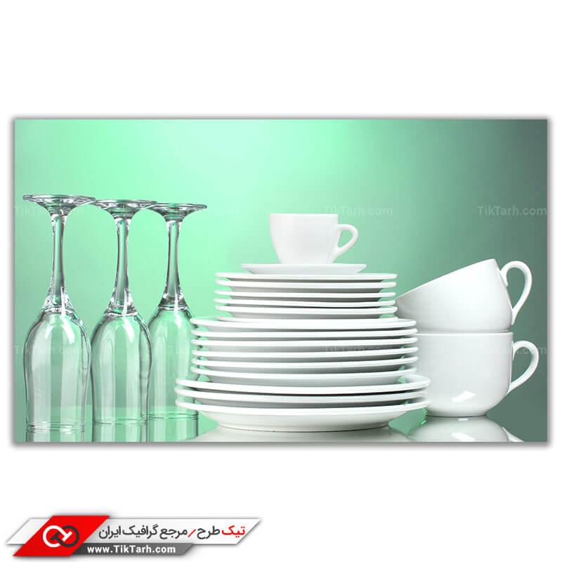تصویر با کیفیت ظروف آشپزخانه
