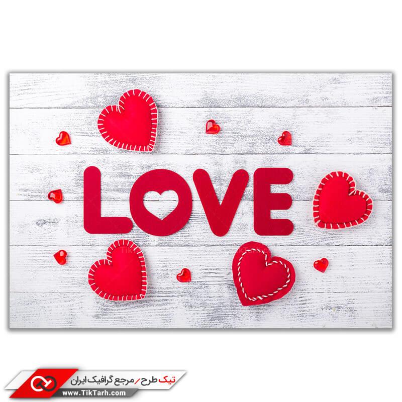 عکس با کیفیت love و قلب های قرمز