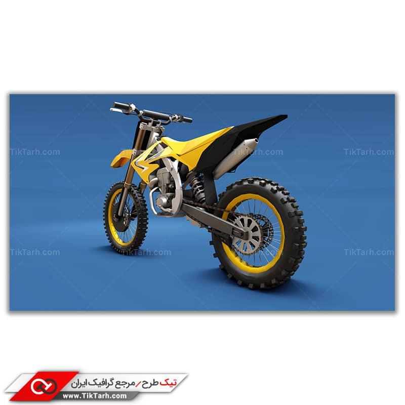دانلود تصویر باکیفیت موتورکراس زرد