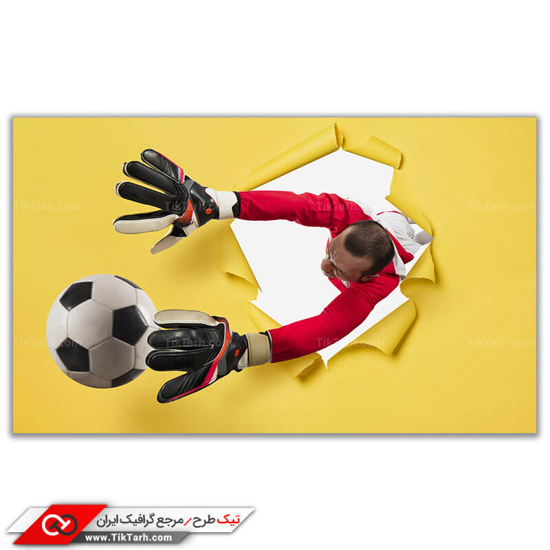 تصویر باکیفیت دروازه بانی در ورزش فوتبال