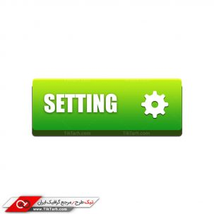 دانلود طرح لایه باز دکمه تنظیمات