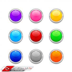 طرح دکمه های دایره رنگی