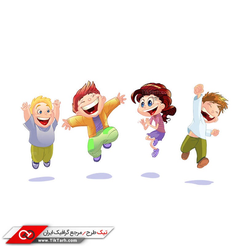طرح کلیپ آرت کودکان خوشحال