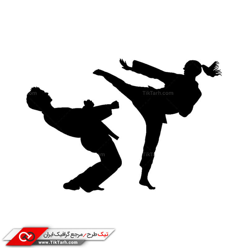 طرح کلیپ آرت ورزش کاراته