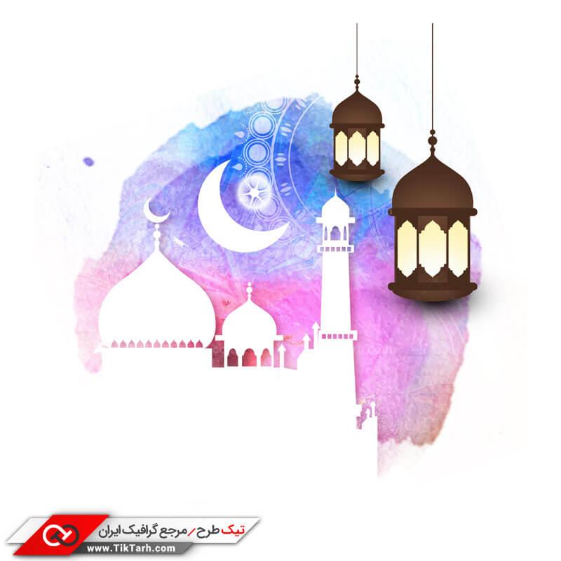 طرح کلیپ آرت چراغانی کردن مسجد