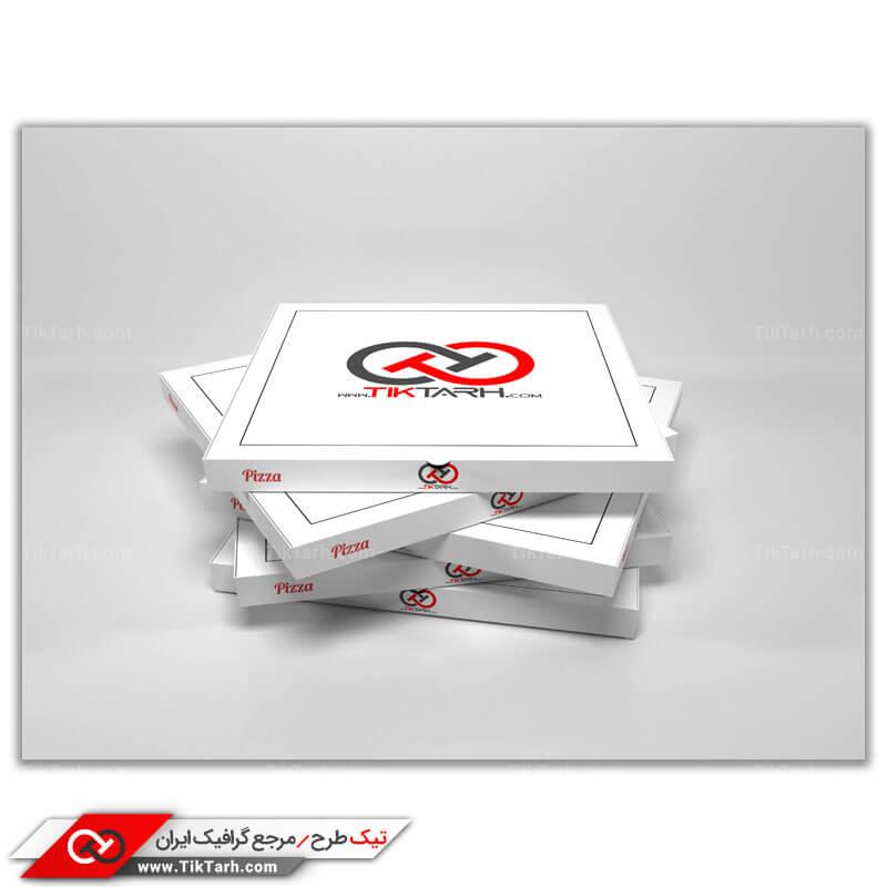 دانلود طرح موکاپ جعبه های پیتزا