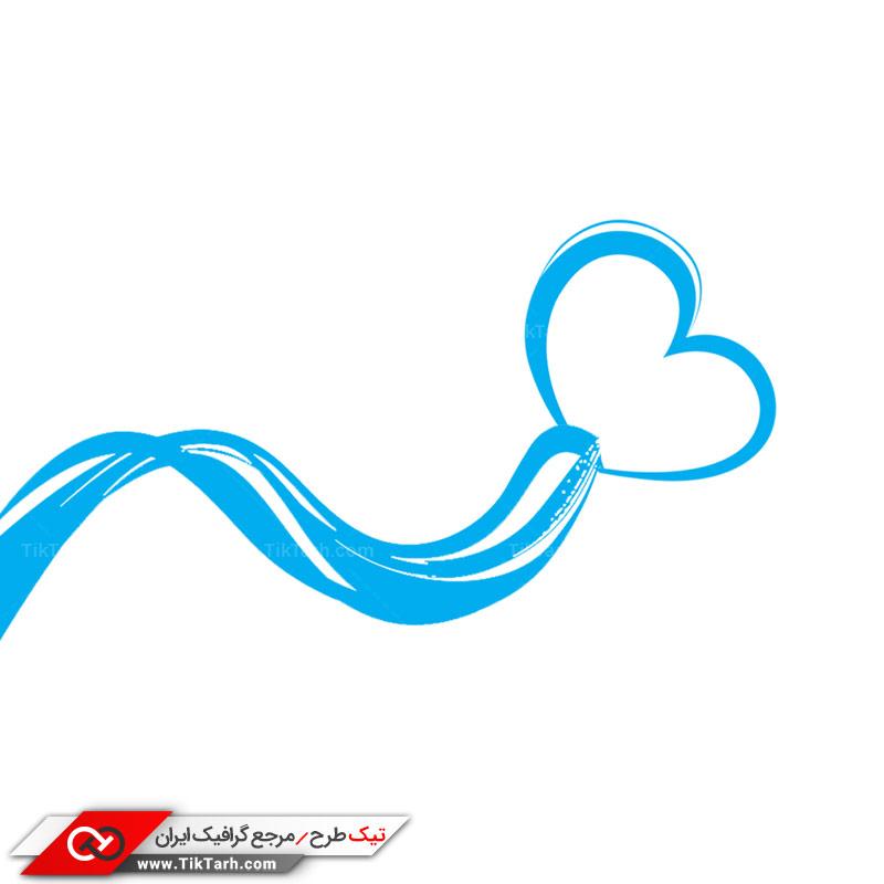 طرح لایه یاز نوار آبی قلبی