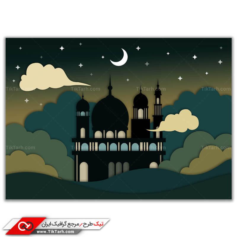 دانلود طرح گرافیکی مذهبی لایه باز ماه مبارک رمضان