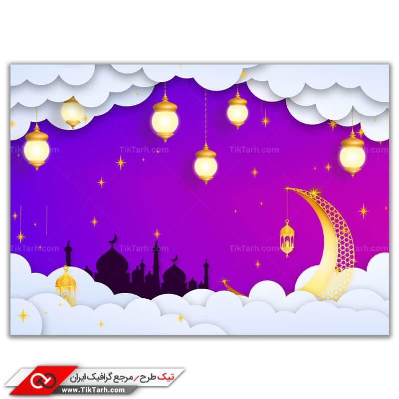 طرح گرافیکی مذهبی ماه مبارک رمضان