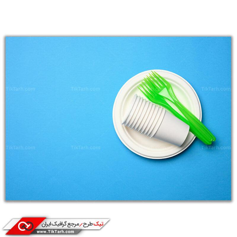 عکس گرافیکی باکیفیت ظروف یکبار مصرف