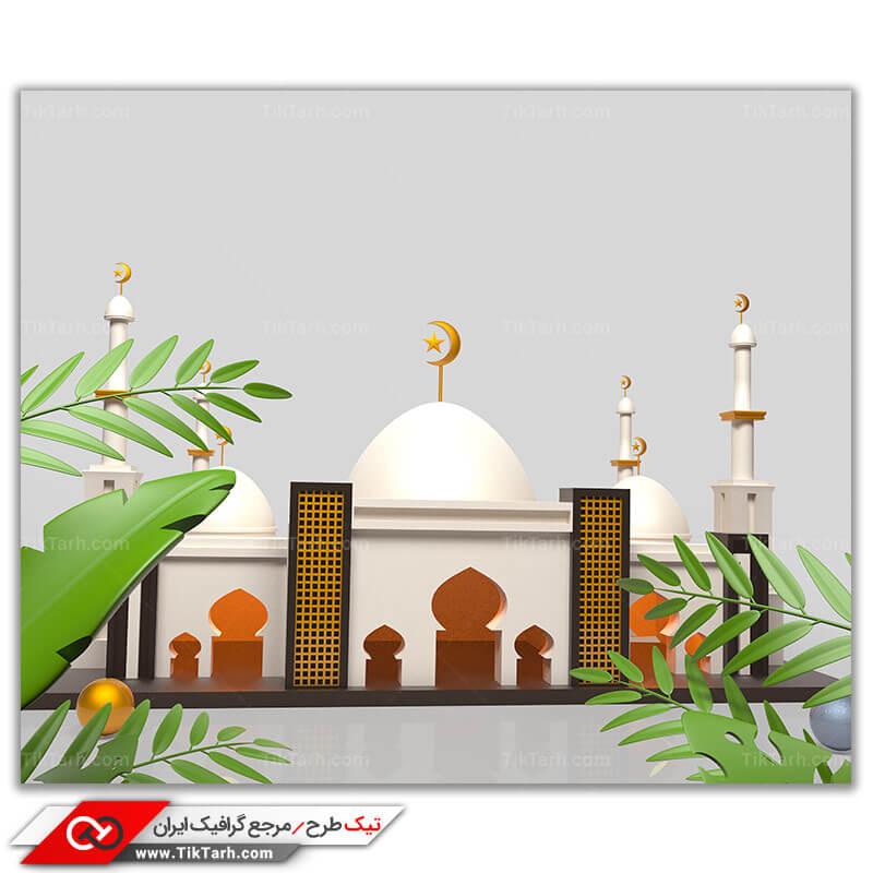 تصویر با کیفیت مسجد با مناره ها