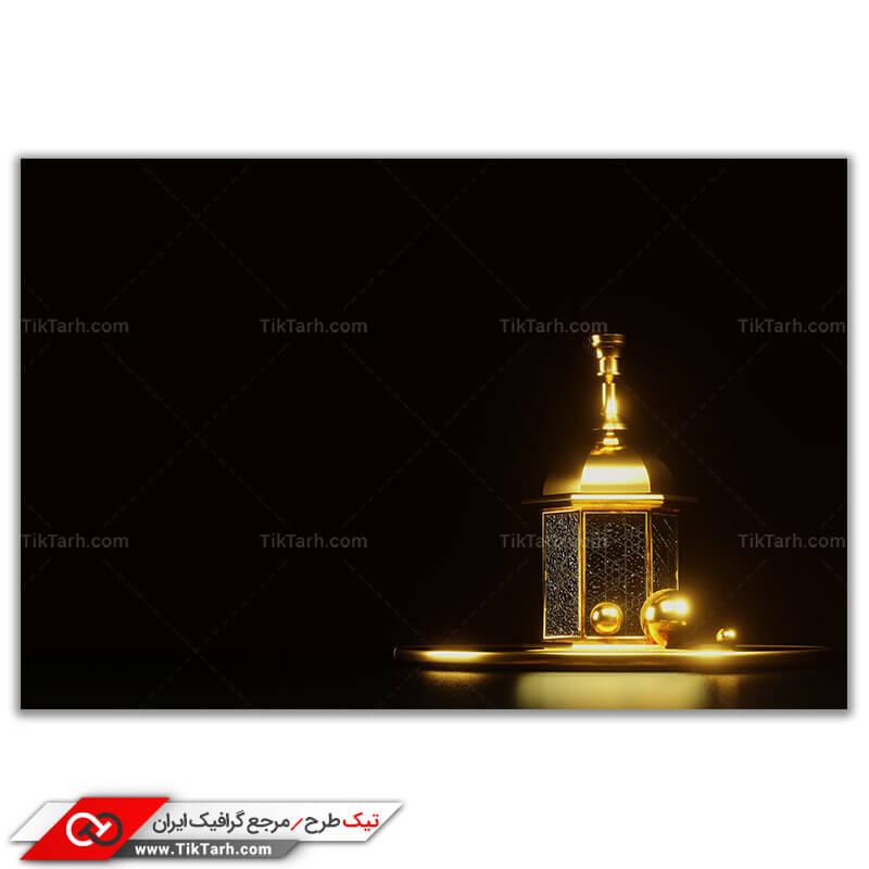 تصویر با کیفیت چراغ با نماد مذهبی