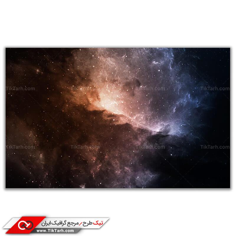 تصویر باکیفیت کهکشان و ستاره ها