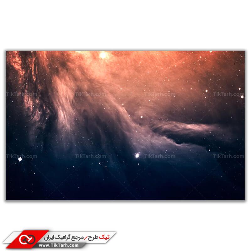 دانلود تصویر با کیفیت کهکشان و ستاره