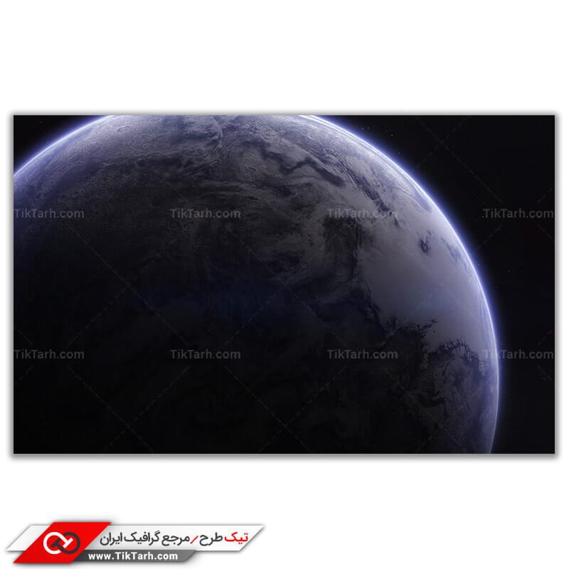 تصویر گرافیکی باکیفیت سیاره زمین