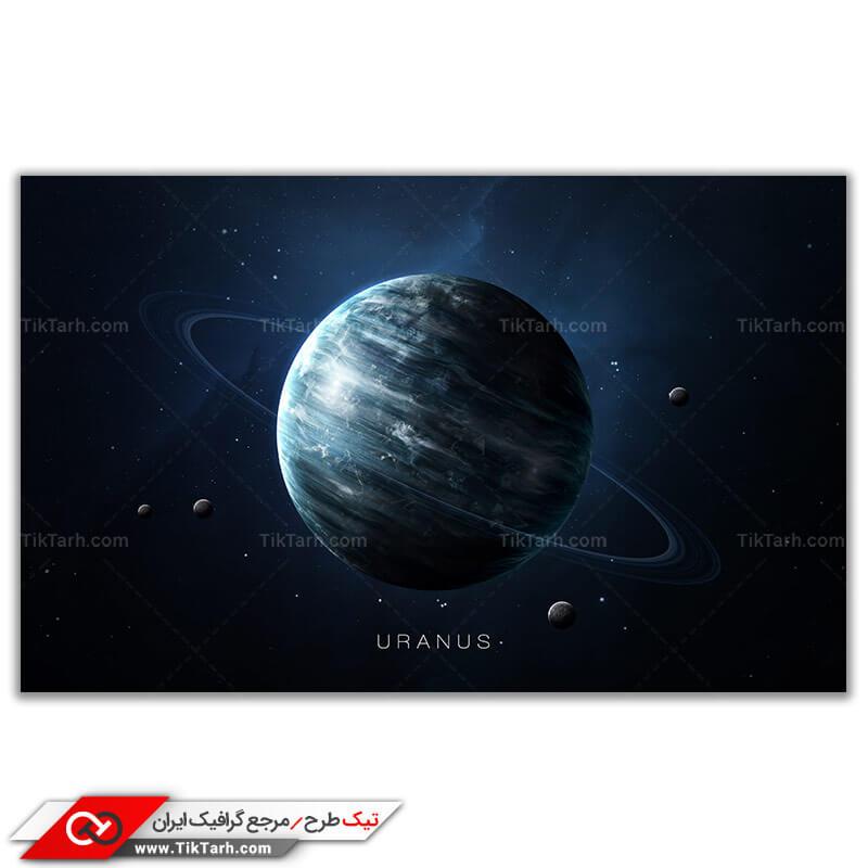 دانلود تصویر گرافیکی باکیفیت سیاره و قمر های آن