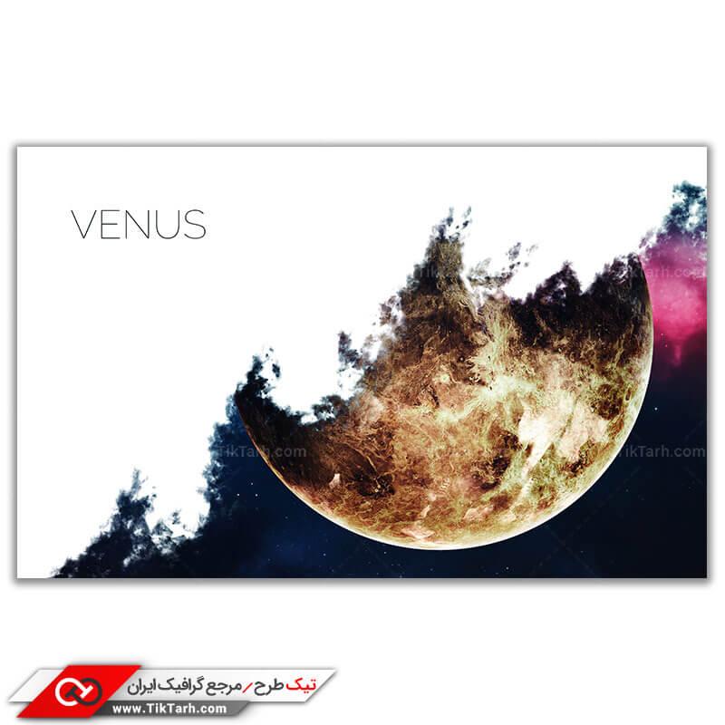 دانلود تصویر گرافیکی باکیفیت سیاره زهره