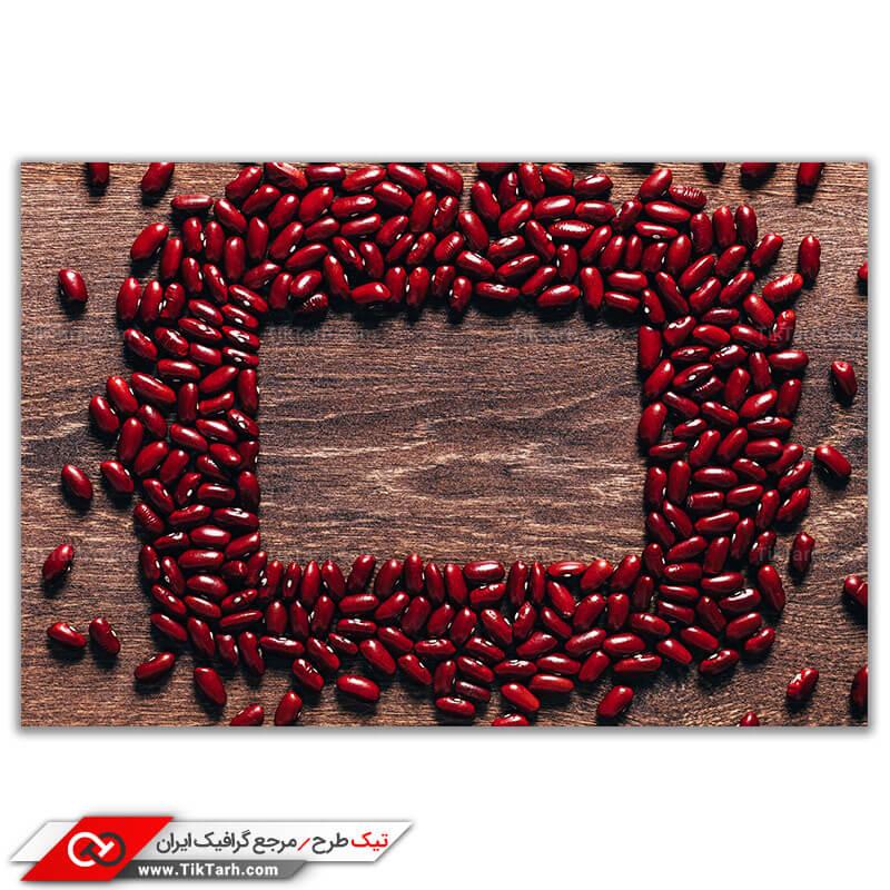 عکس گرافیکی لارج فرمت دانه های لوبیا قرمز