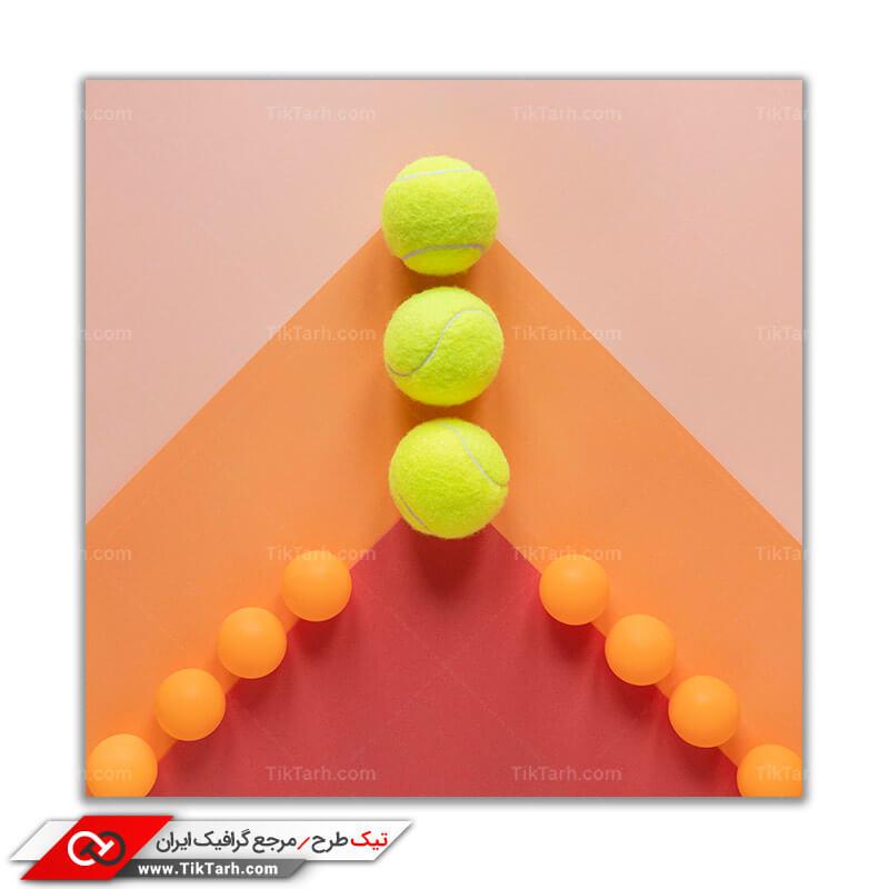 تصویر باکیفیت توپ های تنیس و پینگ پونگ