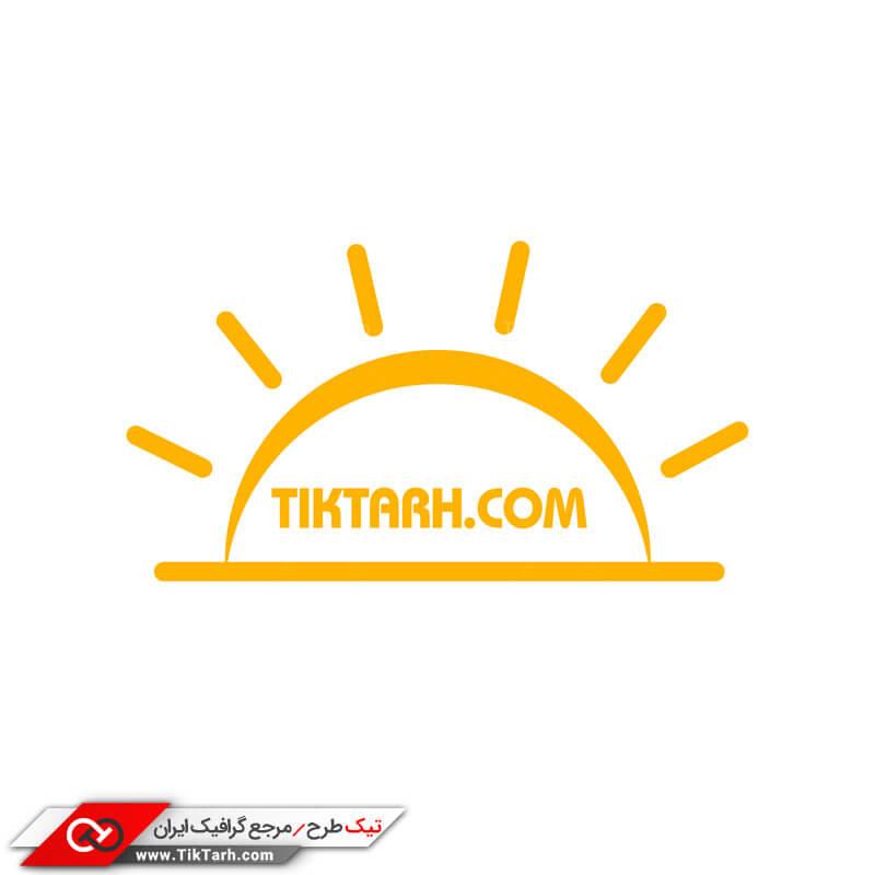 دانلود طرح لایه باز لوگو خورشید