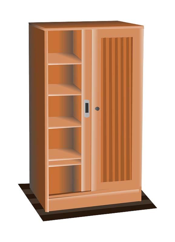 طرح کلیپ آرت کمد چوبی