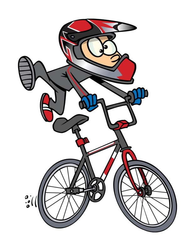 دانلودطرح کلیپ آرت دوچرخه سوار
