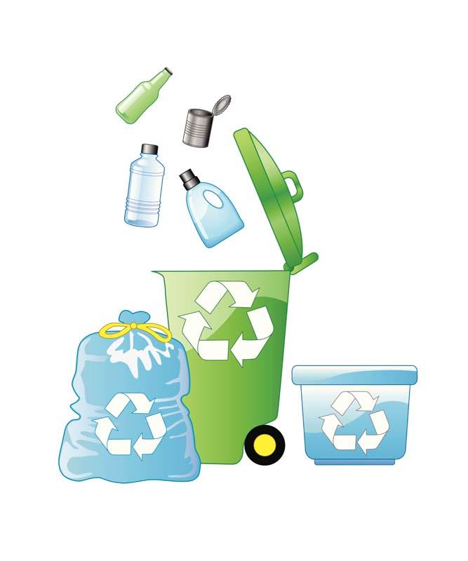 طرح کلیپ آرت بازیافت از سطل زباله